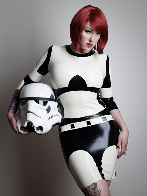 Stormtrooper Latex Dress & Star Wars R2D2 Bodysuit