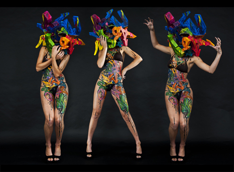 Mr Shiz - Body painting Graffiti
